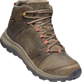 Keen Terradora II Leather Mid WP Zapatillas Mujer, brindle/redwood